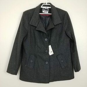 NWT Alpine Swiss Wool Blend Trench Coat XXL#3433